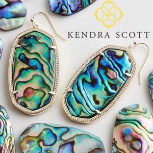 KENDRA SCOTT Elle Gold Drop Earrings in Abalone